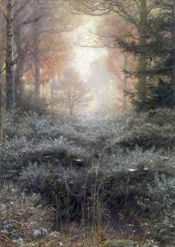 tableaux-de-paysages - Tableau -Dew-Drenched Furze- - Millais, John Everett
