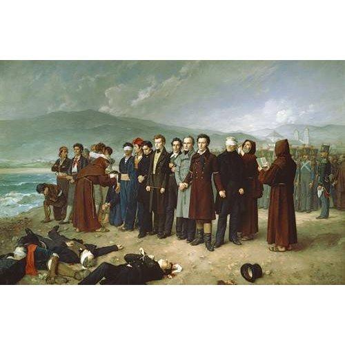 Tableau -Fusilamientos de Torrijos y sus compañeros en las playas de mal