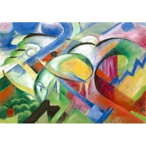 pinturas abstratas - Quadro -The Sheep-