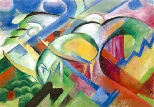 tableaux-abstraits - Tableau -Le mouton- - Marc, Franz