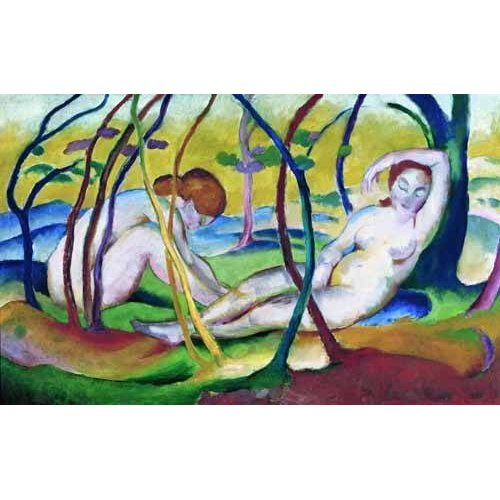fotos nuas - Quadro -Nudes under Trees, 1911-