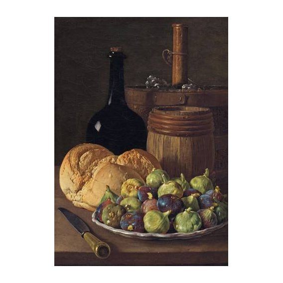 naturezas mortas - Quadro -Bodegon con higos y pan, 1770-