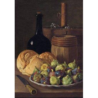 Tableaux nature morte - Tableau -Bodegon con higos y pan, 1770- - Melendez, Luis