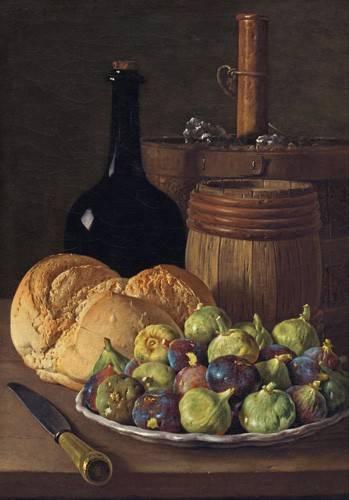 tableaux-nature-morte - Tableau -Bodegon con higos y pan, 1770- - Melendez, Luis