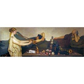 - Tableau -La siesta, Escena Pompeyana- - Alma-Tadema, Lawrence