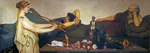 tableaux-de-personnages - Tableau -La siesta, Escena Pompeyana- - Alma-Tadema, Lawrence