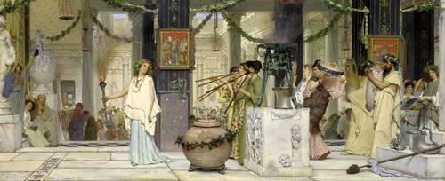 tableaux-de-personnages - Tableau -The vintage festival, 1871- - Alma-Tadema, Lawrence