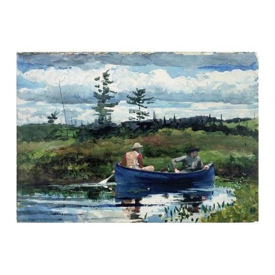 imagens de mapas, gravuras e aquarelas - Quadro -The Blue Boat, 1892-