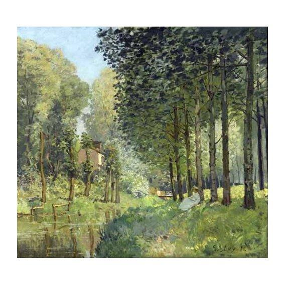 pinturas de paisagens - Quadro -Rest along the Stream Edge of the Wood, 1878-