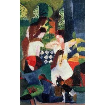 Tableaux abstraits - Tableau -The turkish jeweller- - Macke, August