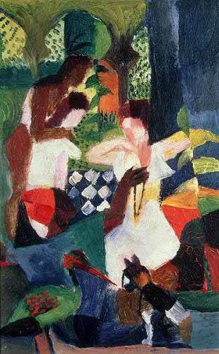 tableaux-abstraits - Tableau -The turkish jeweller- - Macke, August