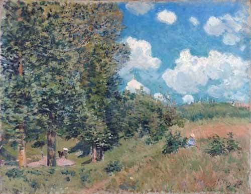 tableaux-de-paysages - Tableau -The Road from Versailles to Saint-Germain, 1875- - Sisley, Alfred