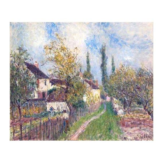 pinturas de paisagens - Quadro -Un sentier aux Sablons (A path at Les Sablons), 1883-