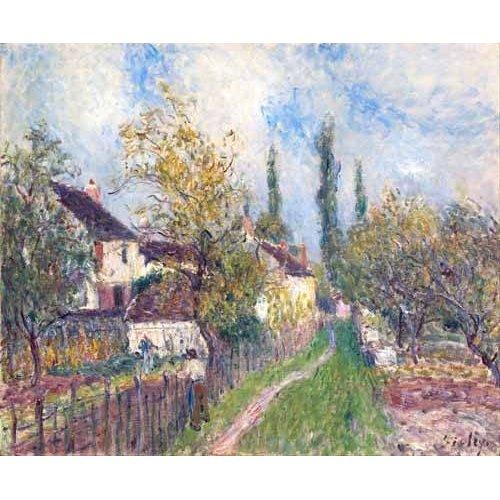 Tableau -Un sentier aux Sablons (A path at Les Sablons), 1883-