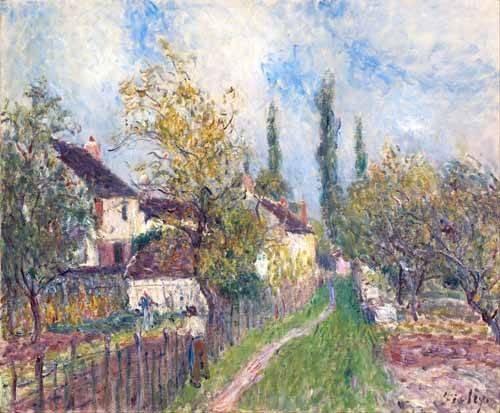 tableaux-de-paysages - Tableau -Un sentier aux Sablons (A path at Les Sablons), 1883- - Sisley, Alfred