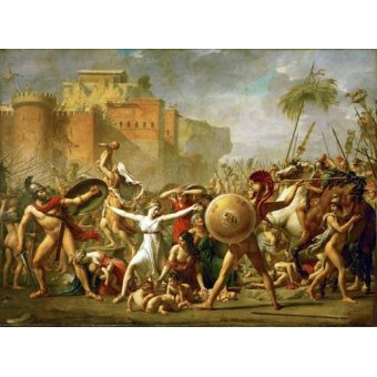 Tableaux de Personnages - Tableau -The Sabine women halting the battle between Romans and Sabines, - David, Jacques Louis