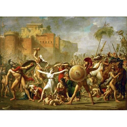 Tableau -The Sabine women halting the battle between Romans and Sabines,