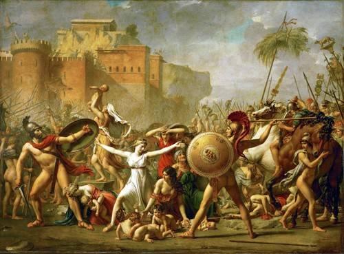 tableaux-de-personnages - Tableau -The Sabine women halting the battle between Romans and Sabines, - David, Jacques Louis