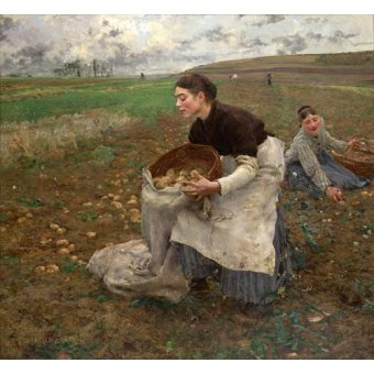 - Tableau -October, 1878- - Bastien Lepage, Jules