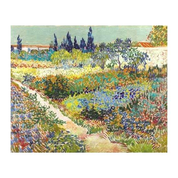 pinturas de paisagens - Quadro -Garden at Arles, 1888-