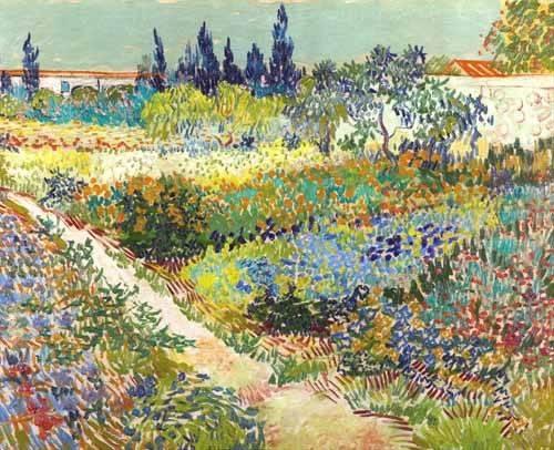 tableaux-de-paysages - Tableau -Jardin d'Arles, 1888- - Van Gogh, Vincent