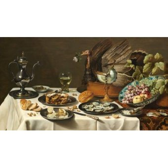Tableaux nature morte - Tableau -Bodegon con pastel turco, 1627- - Heda, Willem Claesz