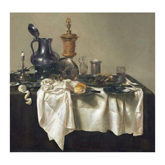 naturezas mortas - Quadro -Banquet Piece with Mince Pie, 1635-