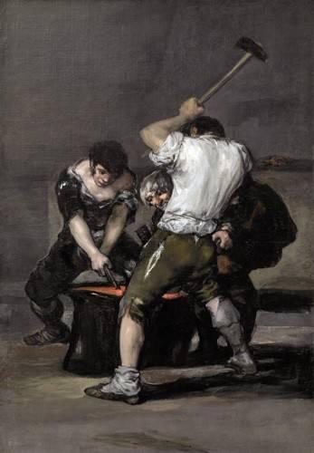 tableaux-de-personnages - Tableau -La_fragua, 1815-1820- - Goya y Lucientes, Francisco de