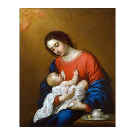 imagens religiosas - Quadro -La Virgen y El Niño, 1658-