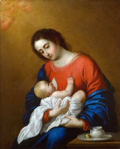 tableaux-religieuses - Tableau -La Virgen y El Niño, 1658- - Zurbaran, Francisco de