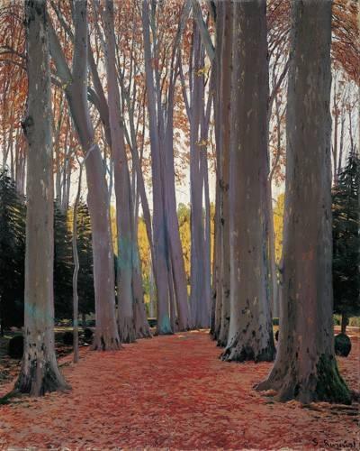 tableaux-de-paysages - Tableau -Avenue of Plane Trees, 1916- - Rusiñol, Santiago