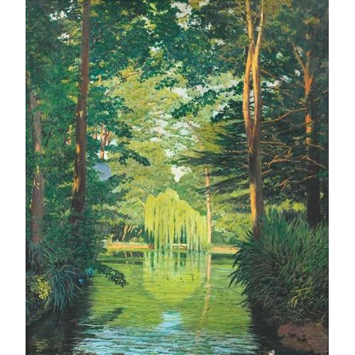 Tableau -Paisaje en un lago-