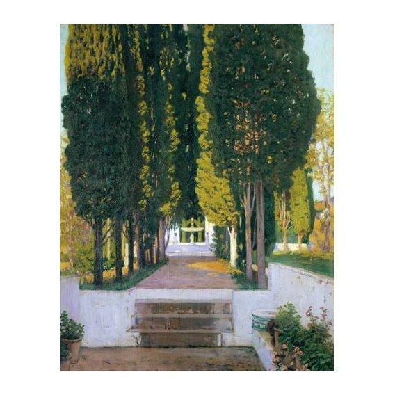 pinturas de paisagens - Quadro -Jardines del Generalife-