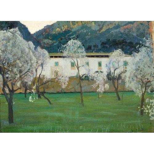 pinturas de paisagens - Quadro -La Granja Blanca en Bunyola, Majorca, 1902-