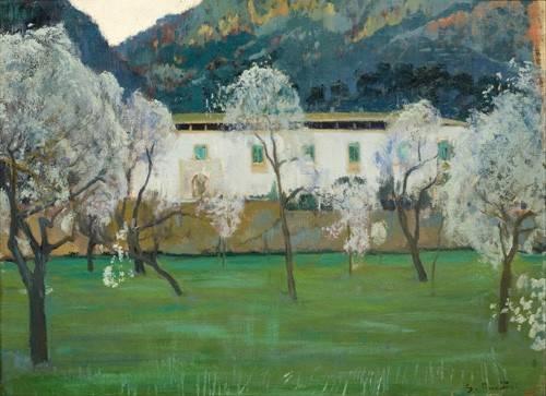 tableaux-de-paysages - Tableau -La Granja Blanca en Bunyola, Majorca, 1902- - Rusiñol, Santiago