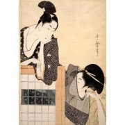 Tableau -Couple with a Standing Screen- geisha