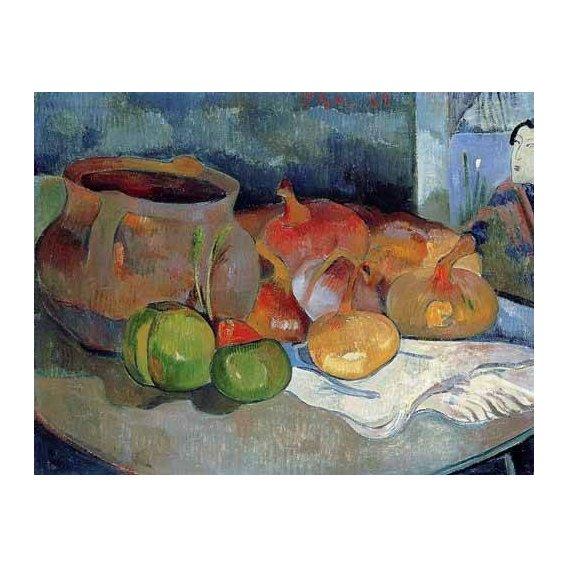 quadros decorativos - Quadro -Bodegón con cebollas y remolacha-