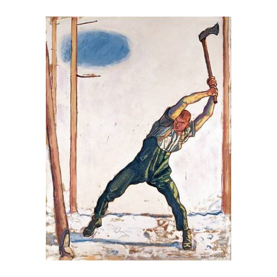 pinturas do retrato - Quadro -Woodcutter, 1910-