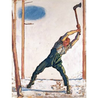 Tableaux de Personnages - Tableau -Woodcutter, 1910- - Hodler, Ferdinand