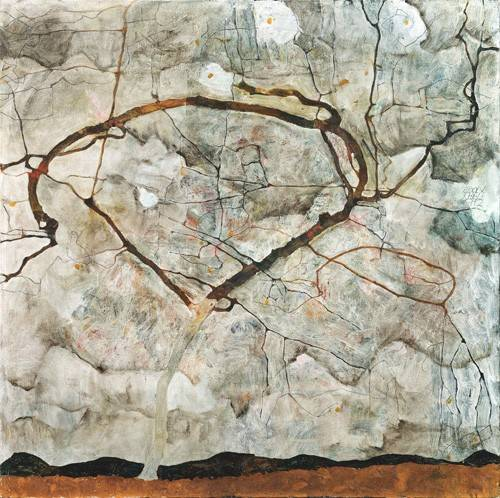 tableaux-abstraits - Tableau -Autumn Tree in Stirred Air (Winter Tree), 1912- - Schiele, Egon