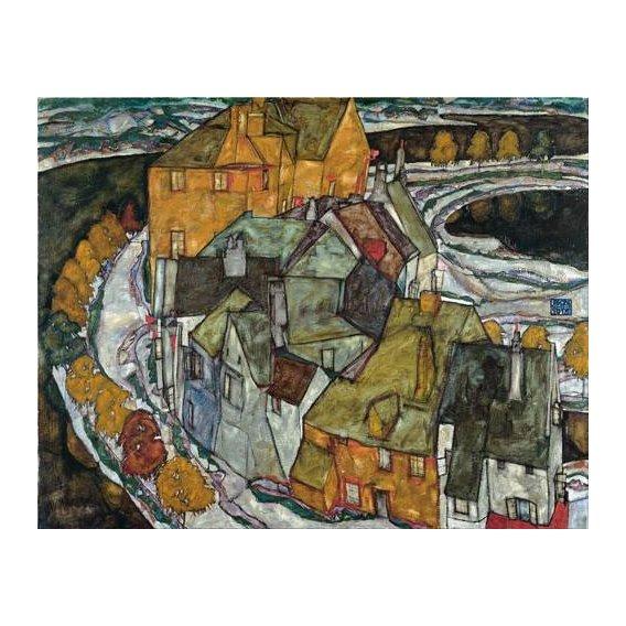 pinturas de paisagens - Quadro -Crescent of Houses II (Island Town), 1915-