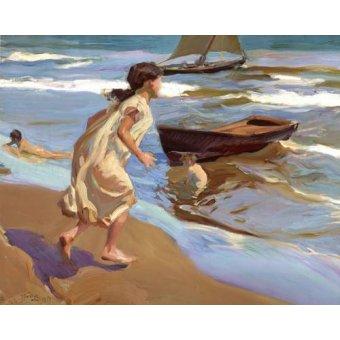 Tableau -Petite fille entrant dans la mer-
