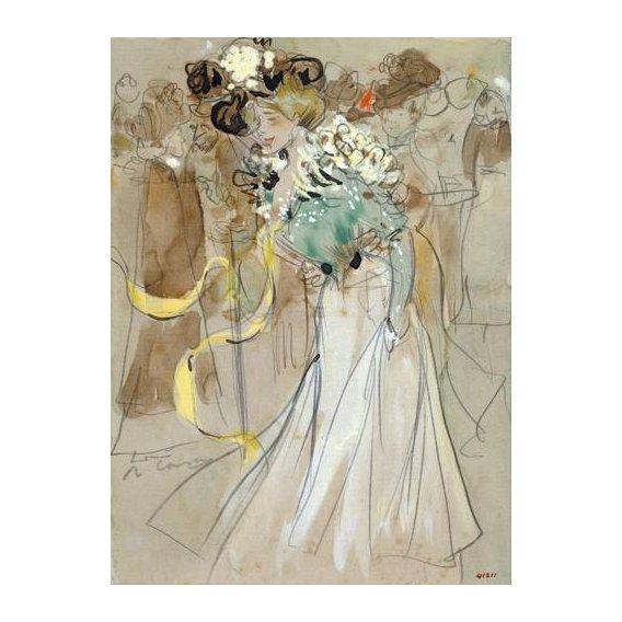 pinturas do retrato - Quadro -Celebrations in Toulon, 1900-