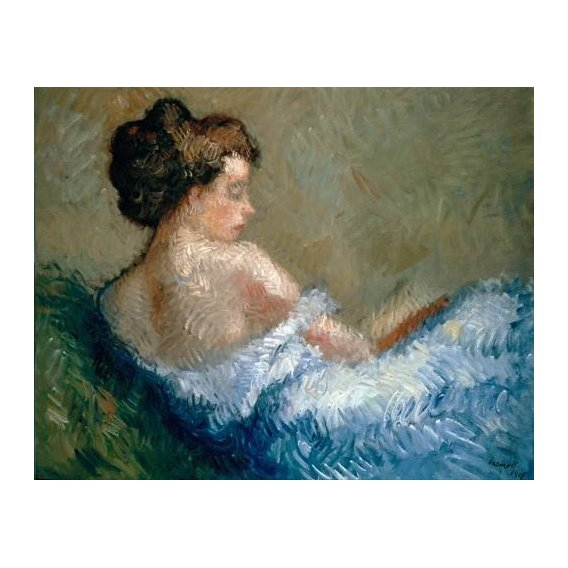 pinturas do retrato - Quadro -Figure crouching-