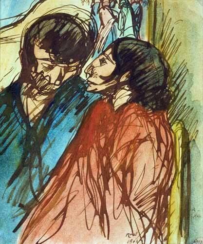 tableaux-de-personnages - Tableau -Gypsy Couple, 1904- - Nonell y Monturiol, Isidre