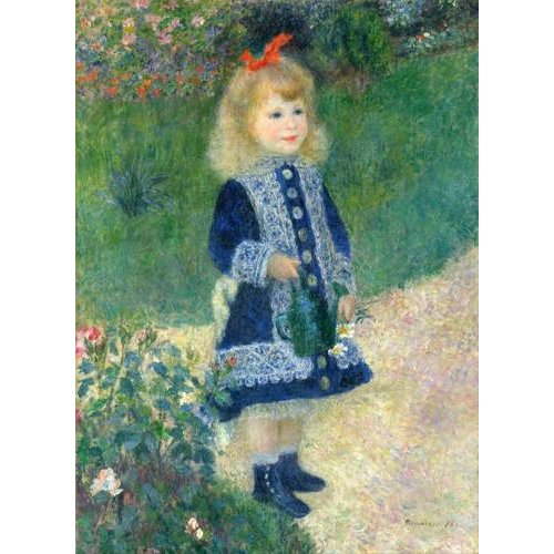 pinturas do retrato - Quadro -A Girl with a Watering Can, 1881-