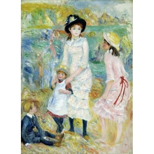 Tableau -Enfants au bord de la mer, Guernesey, 1883-