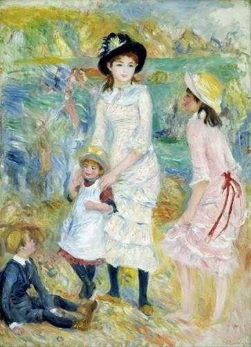 tableaux-de-personnages - Tableau -Enfants au bord de la mer, Guernesey, 1883- - Renoir, Pierre Auguste