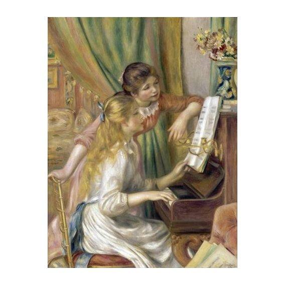 pinturas do retrato - Quadro -Young Girls at the Piano, 1892-