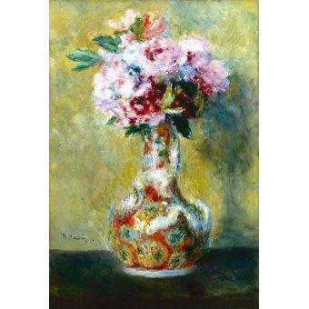 Tableaux de Fleurs - Tableau -Bouquet dans un vase- - Renoir, Pierre Auguste